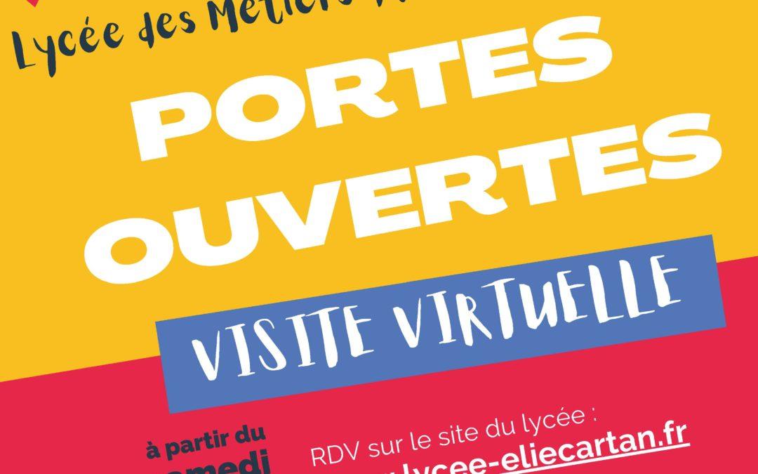 Portes ouvertes virtuelles au lycée Elie Cartan !