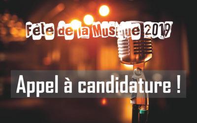 Fête de la Musique 2019 – Appel à candidature